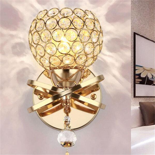 Đèn LED Treo Tường Pha Lê Hiện Đại Thiết Kế Đơn Giản Đèn Phòng Ngủ Đèn Ngoài Trời Trong Nhà Đèn Bạc/Vàng