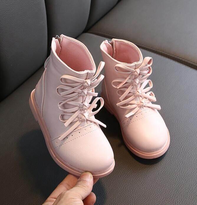 Giá bán 2019 Mới Mùa Đông Giày Trẻ Em Da PU Chống Thấm Nước Giày Bốt Martin Trẻ Em Ủng Thương Hiệu Bé Gái Bé Trai Ủng Cao Su Giày Đế Mềm Thời Trang