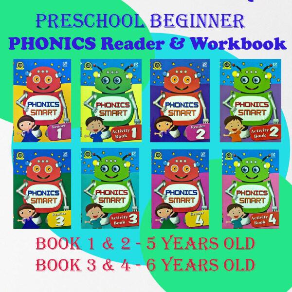 [MBS]PRESCHOOL PHONICS SMART TEXTBOOK/WORKBOOK/PELANGI PHONICS SMART/5 YEARS OLD PHONICS/6 YEARS OLD PHONICS Malaysia