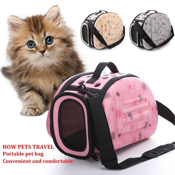 Túi Đựng Thú Cưng Màu Hồng Rắn Túi Di Động Mèo Ngoài Trời Có Thể Gập Lại Túi Du Lịch Thú Cưng Mang Túi Đeo Vai