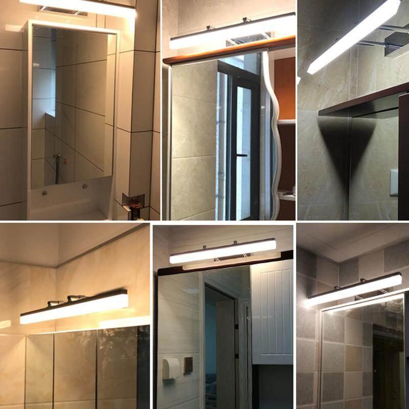 LED mirror headlights stainless steel waterproof for the bathroom