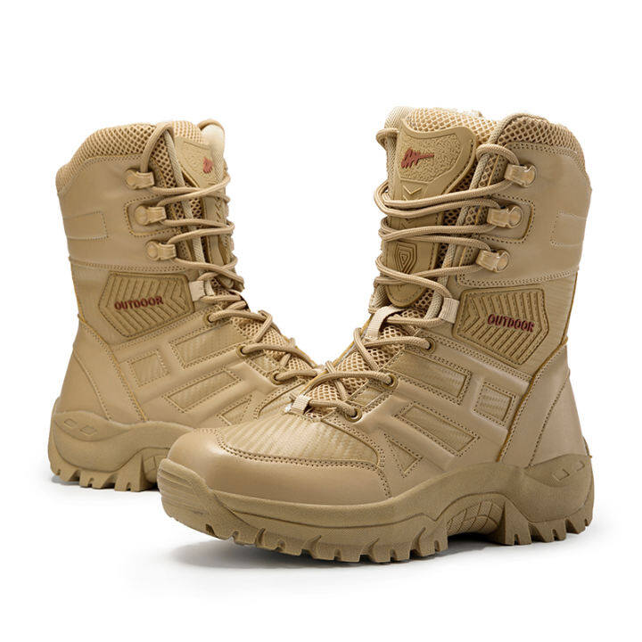 New Footwear Military Tactical Mens Boots Special Force Leather Desert  Combat Ankle Boot Army Men's Shoes Plus Size 39-47 | Lazada