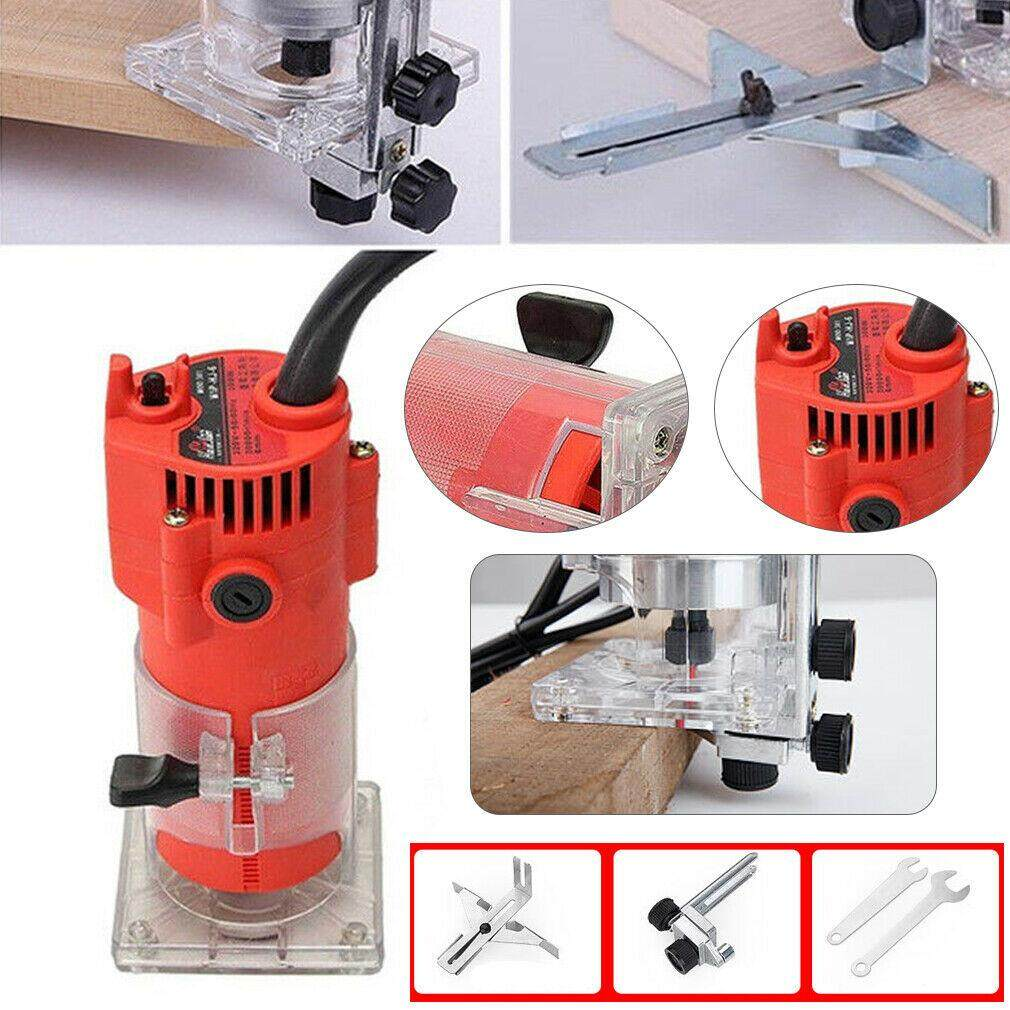 220V 30000RPM Electric Hand Trimmer Wood Laminate Palm Router Joiner Tool Device