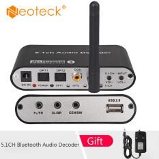 Neoteck 5.1CH Bluetooth Giải Mã Âm Thanh DA615BT-B Với 5.0 Âm Thanh Không Dây DAC Receiver Bộ Chuyển Đổi Quang Học Đồng Trục AUX USB Đĩa Chơi Hỗ Trợ DAC DTS AC3 FLAC