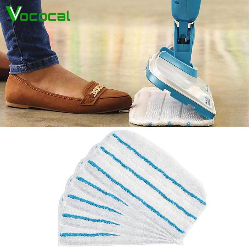 【In stock】Vococal 5PCS Washable Microfibre Steam Mop Broom Replacement Pads Compatible with Black and FSM 1610 FSM 1630 Singapore