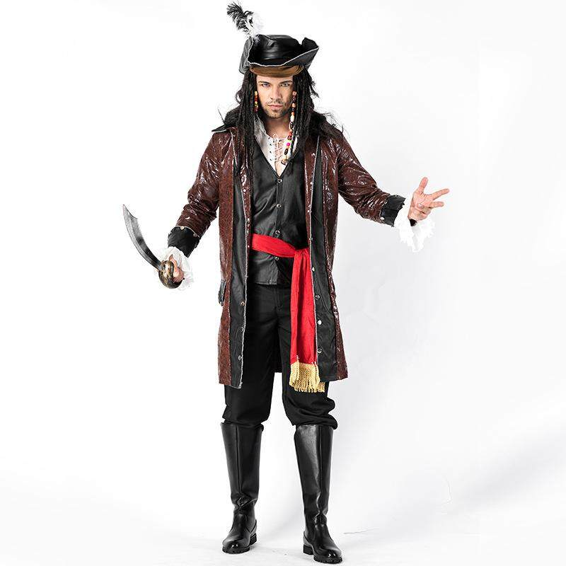 Dolaplay Brand Halloween Men's Cosplay Gorgeous Pirate Costumes Male Pirate Costumes Adult Game Uniforms Stage Wear