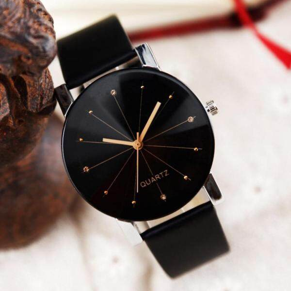 LKJ Men Women Leather Strap Line Analog Quartz Ladies Wrist Watches Fashion Watch watch for women sale original new best seller Leather Black Malaysia