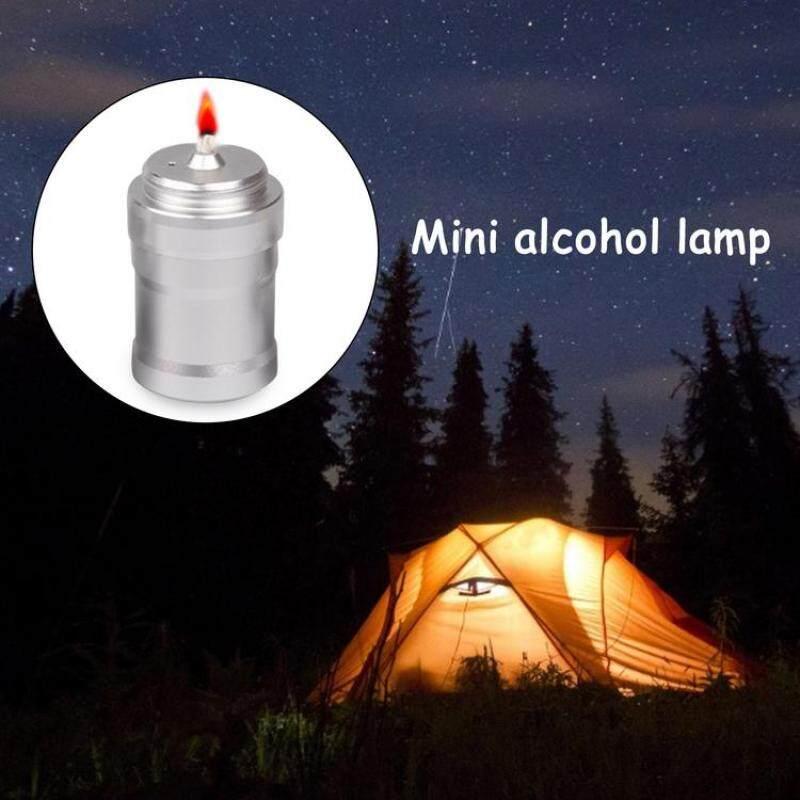 2 Chiếc Mini Metal Alcohol Đèn Xách Tay Phòng Thí Nghiệm Bếp Cồn Cho Cắm Trại