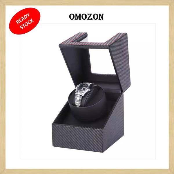 1 Slot Carbon Fiber Inner Matte Black Automatic Watch Winder Box Watch Display Organizer Rotate Watch Box Kotak Jam Automatik Malaysia