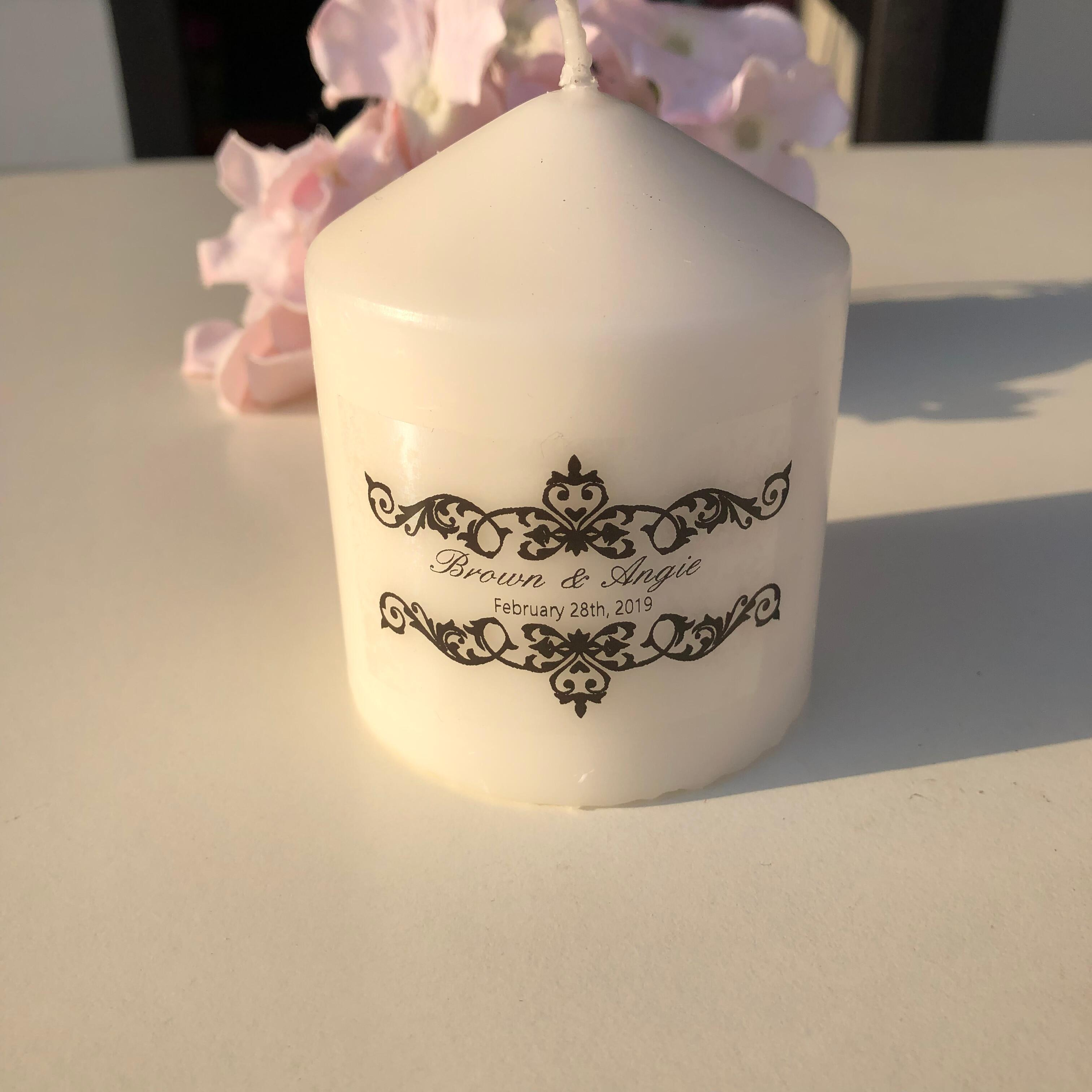 personalised candles Christening gifts Baptism Candle Christening candle fish