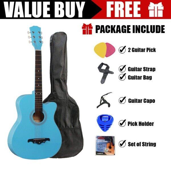 Guitar Combo 38 inch Guitar Starter Package ( Sky Blue ) Malaysia