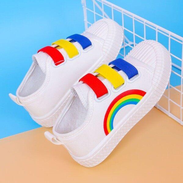 Giày Vải Cầu Vồng Cho Trẻ Em Tiantian Home, Giày Đế Bệt Mềm Chống Trượt giá rẻ