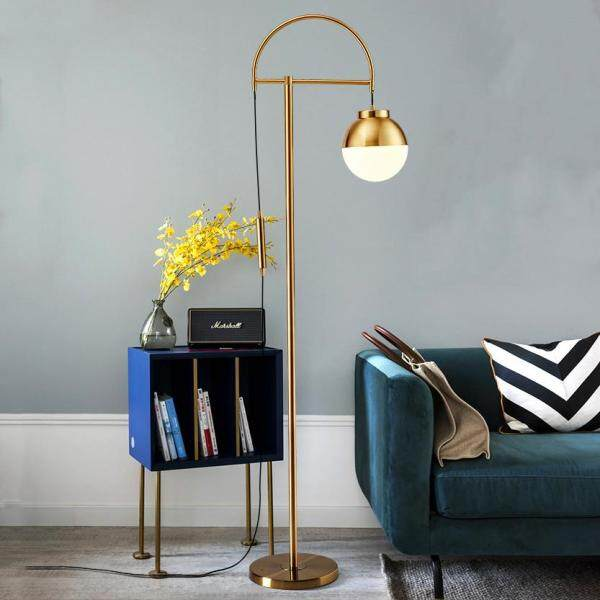 Light Luxury Creative Gold Floor Lamps.Living Room Bedroom Study Floor Stand Lamp Lighting Decoration. Electroplated Wrought Iron Body + Glass Lampshade.100V-240V-E27.