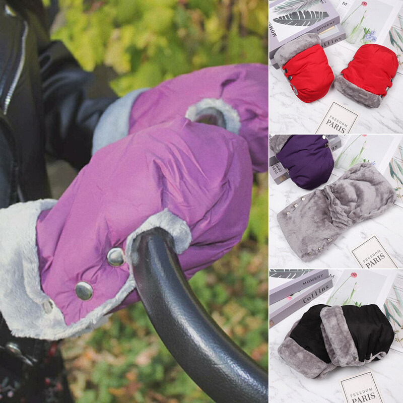 1 Pair Stroller Accessory Thick Antifreeze Hands Warmer Waterproof Pushchair Mittens Hand Muff Pram Gloves Singapore