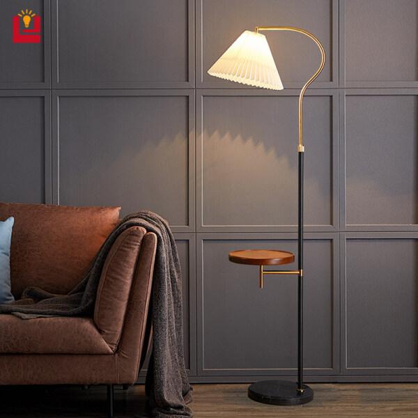 B & B Đèn Sàn Led Phong Cách Bắc Âu Đèn Cạnh Giường Đèn Bàn Cà Phê Sáng Tạo Quà Tặng Bóng Đèn Ấm 9W E27