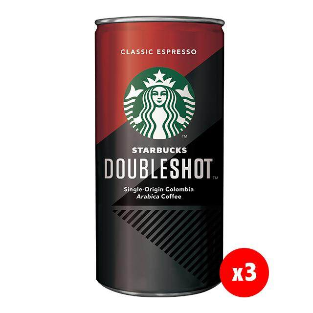 (KL & Selangor Delivery Only) Starbucks Double Shot Classic Espresso (3 x 228ml)