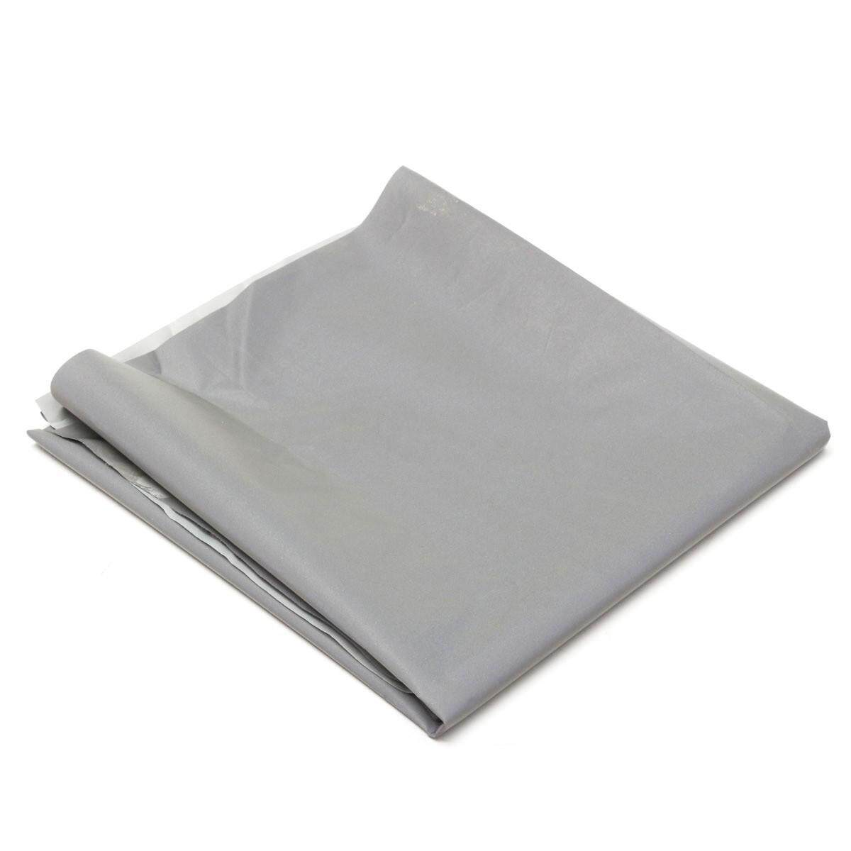 Silver Reflective Fabric Sew On Cloth Material Highlight Chemical Fiber 39.4inch By Sunnny2015.