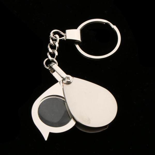 Dolity Pocket Folding Jewellery Magnifier 15X Magnifying Eye Glass Lens Keychain
