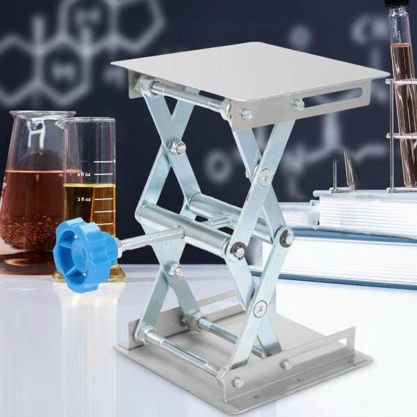 (LOCAL STOCK) 100x100mm Stainless Steel Lifting Platform Stand Rack Scissor Lab Jack Adjustable Height Laboratory Lifting Platform Table Bench Lifter