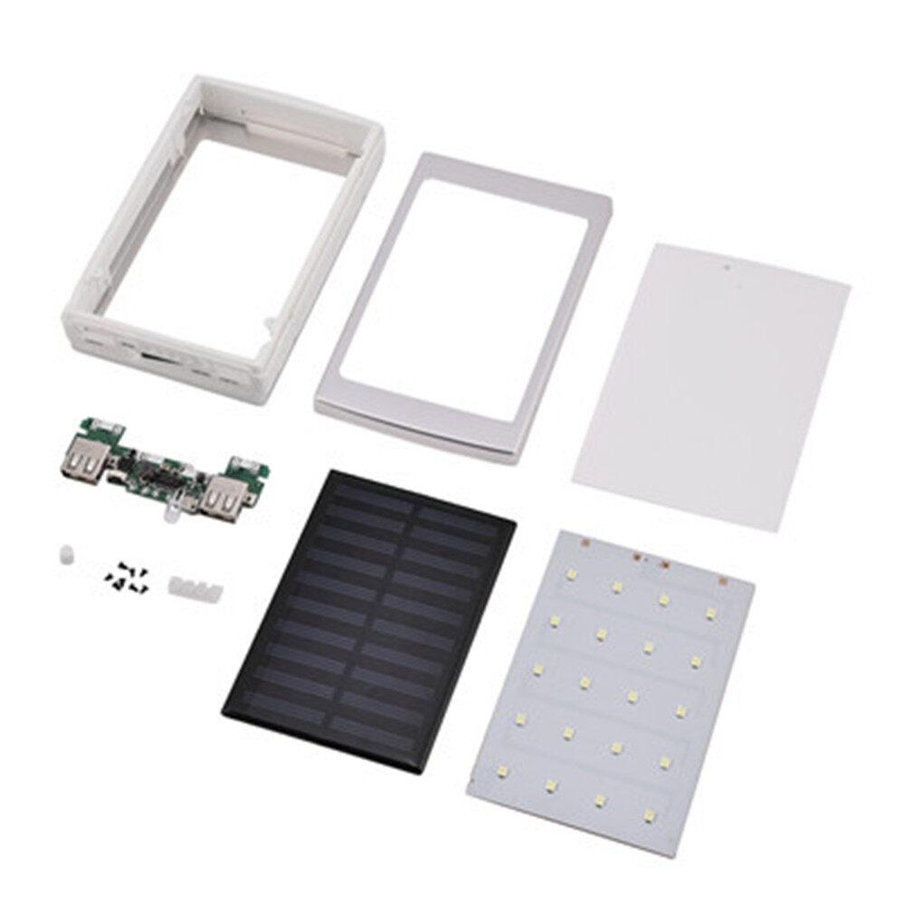 Giá 1 * Có Đèn LED 18650 Pin Lưu Trữ Hộp Bảo Quản Dual USB Box Sạc Pin Năng Lượng Mặt Trời Sạc DIY Bộ Dụng Cụ pin Năng Lượng Mặt Trời Ngân Hàng