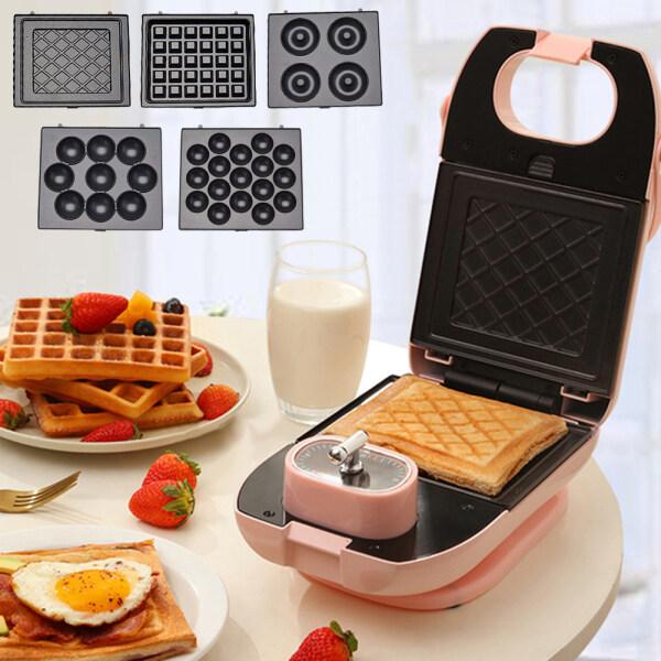 Flh 750W Điện Trứng Máy Làm Bánh Sandwich Nướng Bánh Mì Ăn Sáng Waffle Máy Nướng Bánh Mì