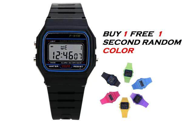 [Buy 1 Free 1] Mens Womens Kids Chilrden Candy Color Electronic Digital Multifunction Sports Watches JAM TANGAN Malaysia