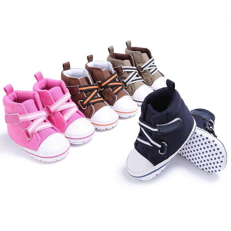 Newborn Baby Sole Crib Shoe Infant Girls Boy Toddler Casual Anti-Slip 0-18Months