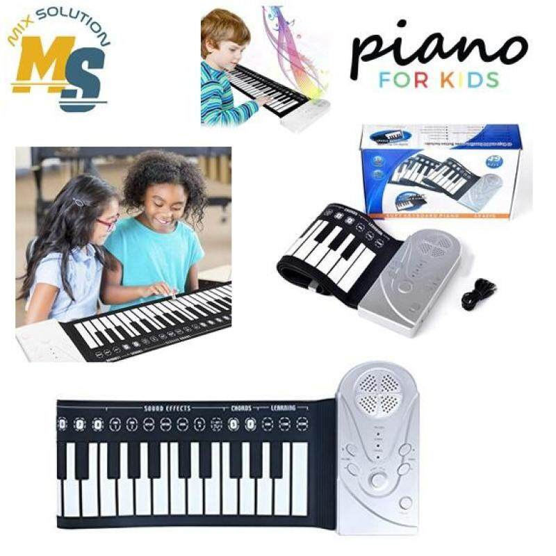 49 Keys Roll-up Portable Foldable  Silicone Soft Keyboard Electronic Piano Electric Kids Music Equipment Malaysia
