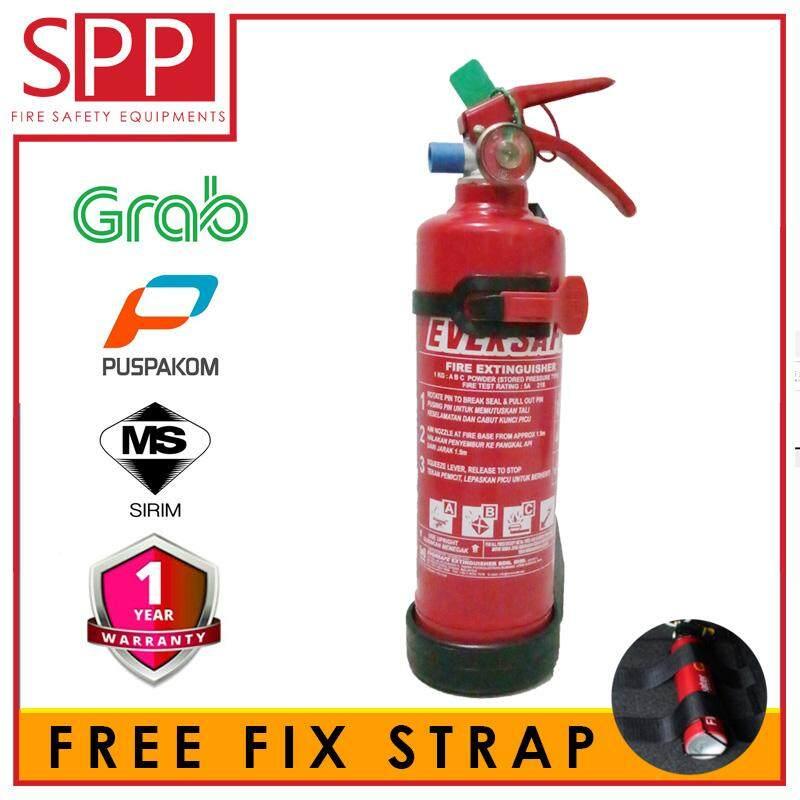 Eversafe 1KG ABC Dry Powder Portable Fire Extinguisher Sirim Certified GRAB Puspakom