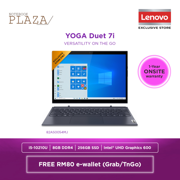 Lenovo Yoga Duet 7 13IML05 82AS0054MJ 13.3 WQHD Touch Laptop Slate Grey ( i5-10210U, 8GB, 256GB SSD, Intel, W10 ) Malaysia