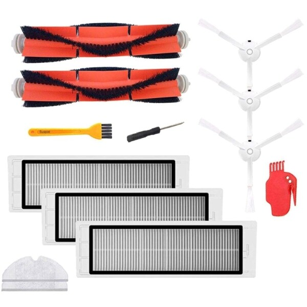 Bảng giá Accessories For Xiaomi Mijia/Roborock Robot Vacuum Cleaner Pack Of 3 Hepa Filters,2 Main Brushes,1 Cleaning Tool,3 Side Brushes Điện máy Pico