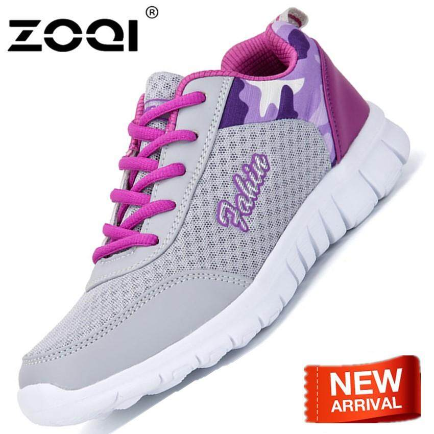 ZOQI Shoes Summer Breathable And Comfortable Big Size Net Cloth Sport Shoes Dry And Sweat-