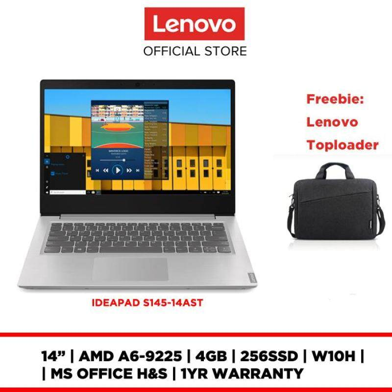 LENOVO LAPTOP NOTEBOOK IDEAPAD S145-14AST 81ST005KMJ 14 /AMD A6-9225/4GB/256GB/W10H/MS OFFICE/FREE Casual Toploader Malaysia
