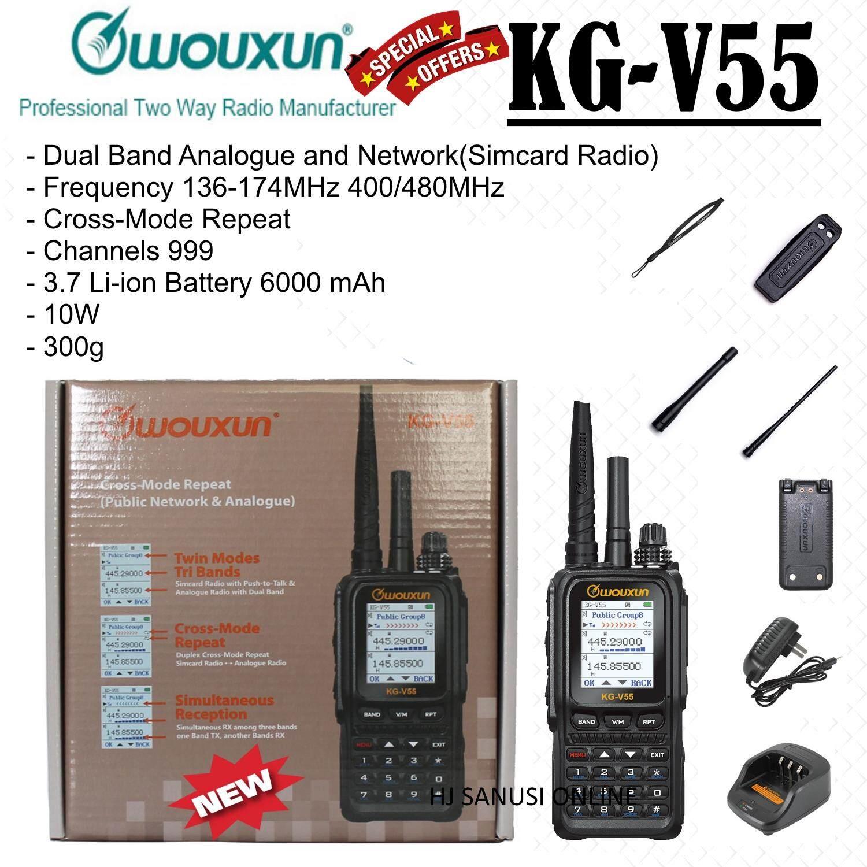WOUXUN KG-V55 Dual Band Analogue and Network(Simcard Radio , WCDMA)