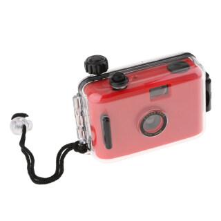 Máy ảnh phim Lomo 35mm chống nước baoblaze có vỏ, 16ft dưới nước, có thể tái sử dụng, màu đỏ thumbnail