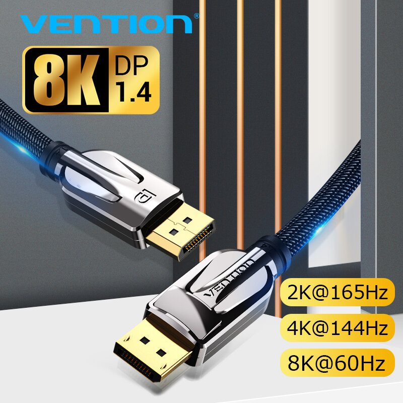 Bảng giá Vention Cáp DisplayPort 1.4 Cable 8K 60Hz tốc độ cao 32.4Gbps cổng displayport for Video PC Laptop DP 1.4 Display Port 1.4 Cable Phong Vũ