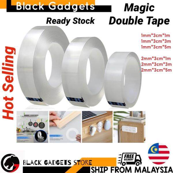 Nano Transparent Magic Gel Tape Multi Function Multi Purpose Seamless Double Side Strong Washable and Reusable tape