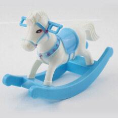 Nhựa Rocking Horse Trojan Shooting Props Nền Mini Hồng Trái Tim Nhỏ Trang Trí Máy Tính Để Bàn Đồ Chơi Trẻ Em