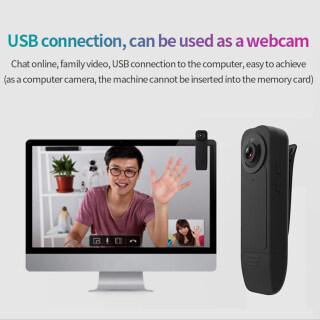 Webcam Tầm Nhìn Ban Đêm Mini Đeo Được A18 HD 1080P 30 Khung Hình GIÂY Máy Quay Phát Hiện Chuyển Động Máy Quay Kẹp Sau A18 Camera Hd 1080P 30 Khung Hình GIÂY Camera Thông Minh Ghi Trực Tiếp Thẻ Nhìn Ban Đêm Không Ánh Sáng Camera Mạng thumbnail