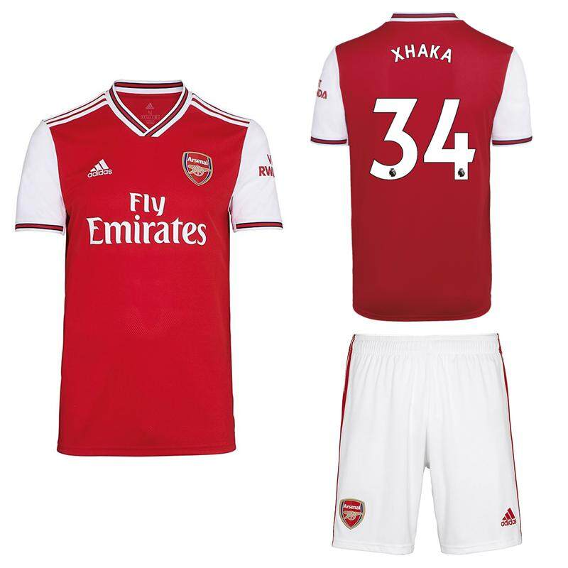 premium selection 96c36 00347 2019/2020 Children Top Quality Arsenal kids Kit NO.14 AUBAMEYANG home  Football Jersey Kit NO.29 GUENDOUZI NO.34 XHAKA red soccer Shirt free  shorts ...