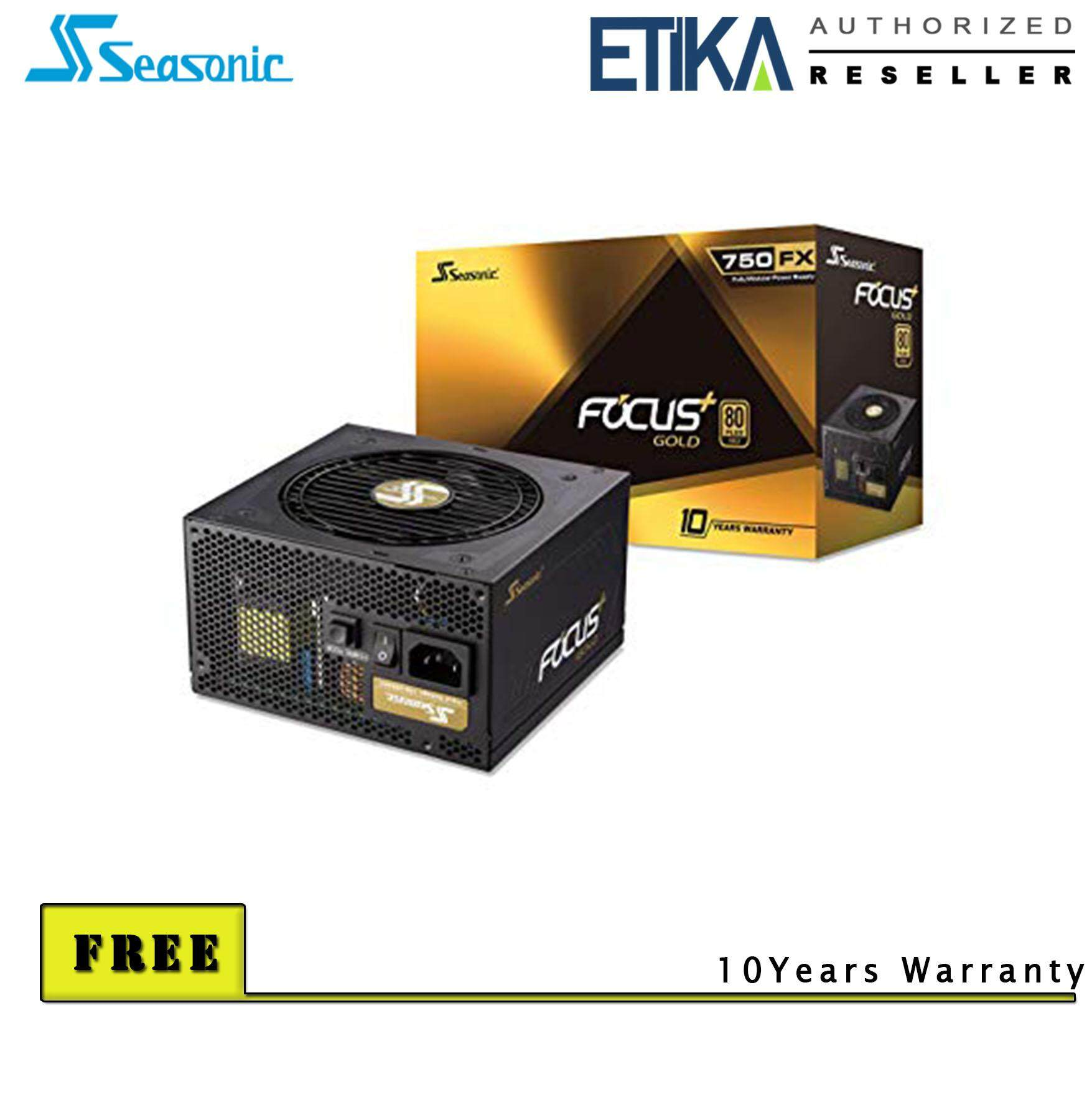 Seasonic Fx-750 Gold 750w 80+ Gold Full Modular Power Supply (10 Years Warranty) By Etika Komputer S/b.