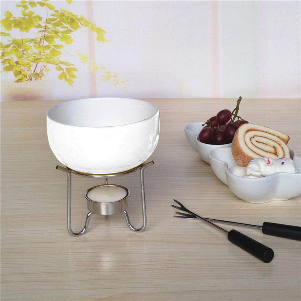 Portable Pure White Ceramic Cheese Chocolate Melting Pot High Temperature Resistance Hot Pot Set Kitchen Tool