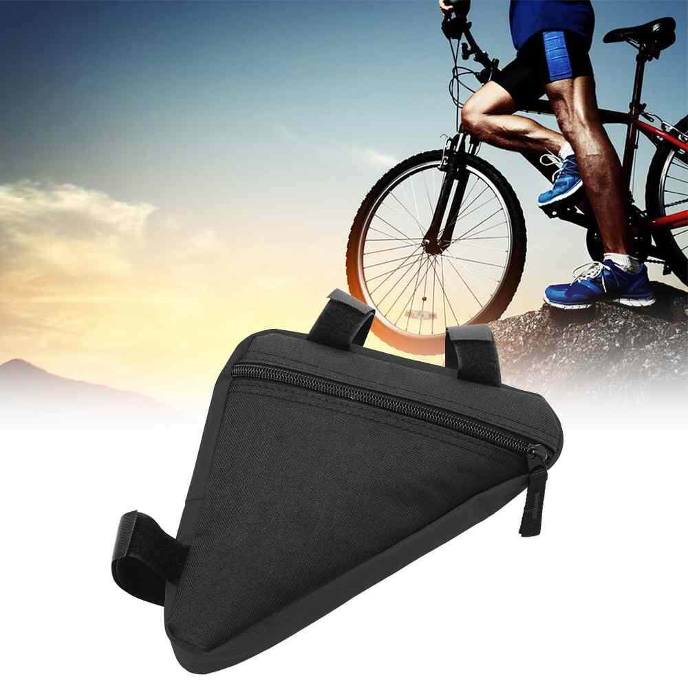 Jnan Bicycle Front Frame Triangle Bag Cycling Bike Tube Pouch Holder Saddle Panniers By Jnan.