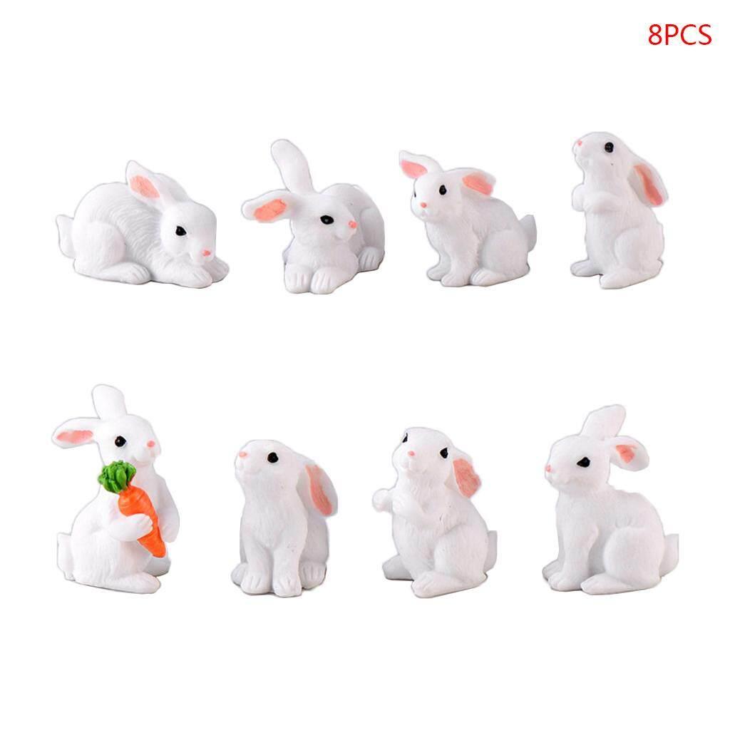 2Pcs 1//12 Dollhouse Miniature Rabbit Dollhouse Simulation Animal Toys Decor ^D
