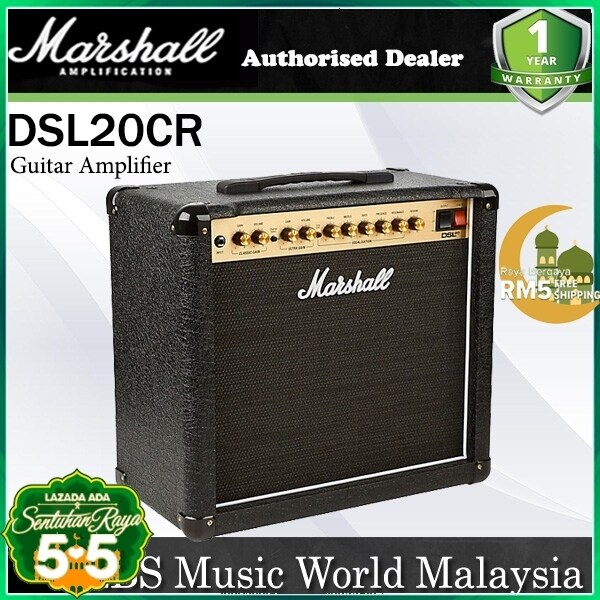 Marshall DSL20CR 20 Watt 1x12 2 Channel Tube Combo Guitar Amp Amplifier (DSL 20CR) Malaysia