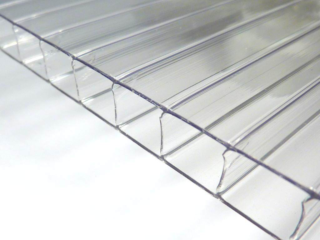 6MM Clear Polycarbonate Twinwall Sheet 1M*1M