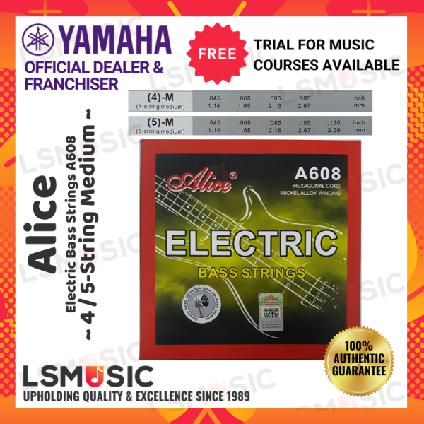 Alice A608 Electric Bass String Set (4)-M / (5)-M Malaysia