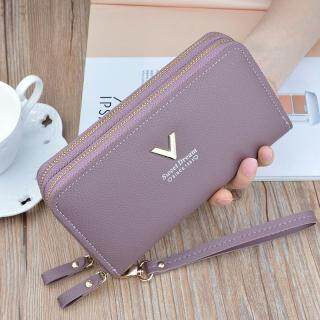 Double Layer Long Wallet for Women New 2021 - Fashion Large Capacity Phone Bag, Women Clutch Coin Purse Card Holder thumbnail