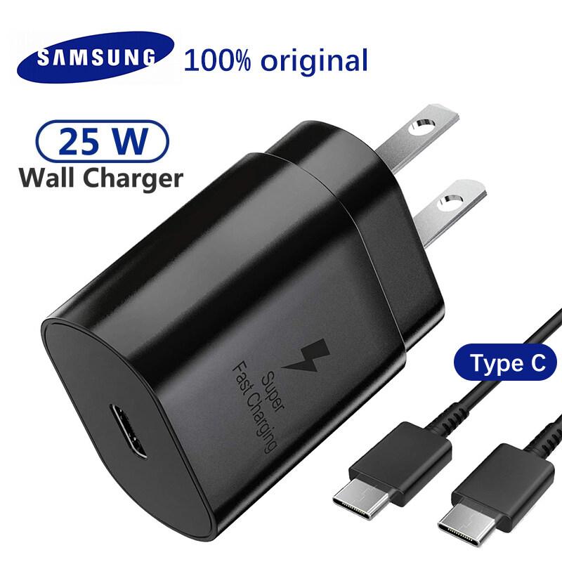 Samsung S20 Ultra Note 10 20 Sạc Nhanh Bộ Chuyển Đổi Sạc Nhanh 25W Chính Hãng Cáp USB C Sang Loại C Cho Galaxy S20 Plus/S20 + A80