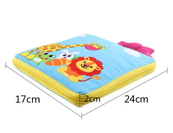 Cartoon baby cloth book 03 years old tearing rotten touch with paper early education stereo cloth book baby cloth book